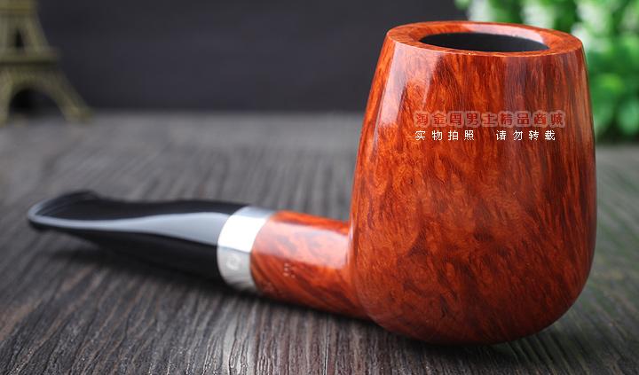 包装:如下图所示 特点:烟嘴榫口采用925银圈,耐用又美观,本款烟斗为